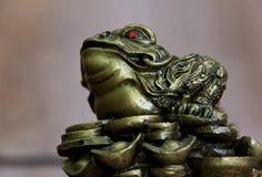 żaby feng shui pieniądze Fotografia Royalty Free