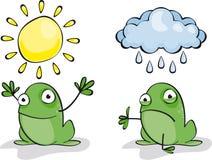 żaby pogoda ilustracja wektor