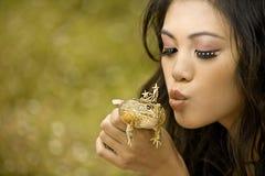 żaby princess obraz stock