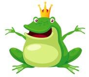 Żaby szczęśliwy książe Obrazy Royalty Free