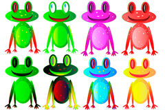 żaby ustawiają Zdjęcie Royalty Free