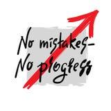 Żadny błędy inspirują i motywacyjna wycena - żadny postęp - Ręka rysujący piękny literowanie ilustracja wektor