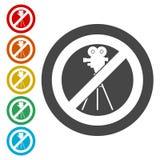 Żadny dokumentacyjny wideo znak, Żadny krótkopędu wideo znak Fotografia Stock