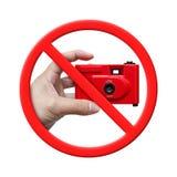 Żadny fotografia, Zakazująca znaka odizolowywającego na Białym tle Zdjęcia Stock