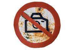 Żadny fotografia znak na Starej Ośniedziałej desce Zdjęcia Royalty Free