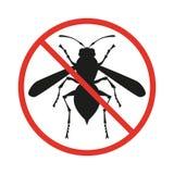 Żadny insekta znak na białym tle royalty ilustracja