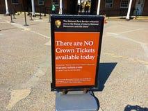 Żadny korona bilety dla statuy wolności zdjęcia stock
