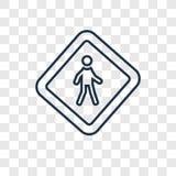 Żadny kroka pojęcia wektorowa liniowa ikona odizolowywająca na przejrzystym backg ilustracja wektor