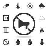 Żadny megafon ikona Szczegółowy set sieci ikony Premii ilości graficzny projekt Jeden inkasowe ikony dla stron internetowych, sie ilustracja wektor