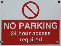 ŻADNY parking 24 godzina dostępu wymagającego Obraz Stock