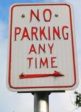 Żadny parking Jakaś czasu znak zdjęcia stock