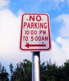 Żadny parking Jakaś czasu znak obrazy royalty free