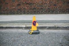 Żadny parking rożka sygnał w ulicie Obrazy Royalty Free