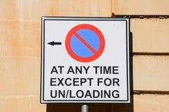 Żadny parking znak, Malta obrazy stock