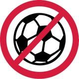 Żadny piłka nożna Futbolowy zakaz Zdjęcie Royalty Free
