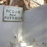 Żadny pijalny woda znak zdjęcia stock