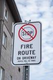 Żadny powstrzymywanie ogienia trasy znak zdjęcie royalty free