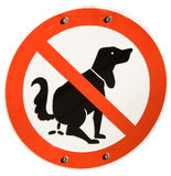 Żadny psy pozwolić Zdjęcie Stock