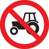 Żadny rolnego ciągnika znak Zdjęcie Stock