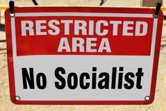 Żadny socjalista Pozwolić zdjęcie royalty free