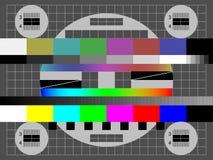 Żadny sygnału TV koloru testa wektorowy ekran ilustracji