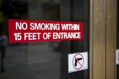 żadny szyldowy dymienie Fotografia Stock