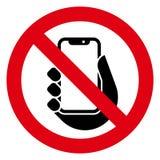Żadny telefon ikona obrazy stock