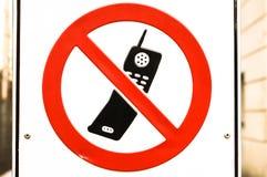 Żadny telefon komórkowy pozwolić obraz stock