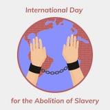 Żadny więcej niewolnictwo ilustracja wektor
