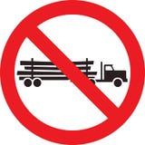 Żadny wyróbki ciężarówki znak Zdjęcie Stock