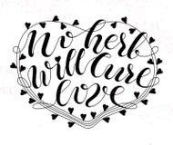 Żadny ziele leczy miłość plakat Zdjęcie Royalty Free