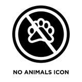 Żadny zwierzę ikony wektor odizolowywający na białym tle, loga concep ilustracji