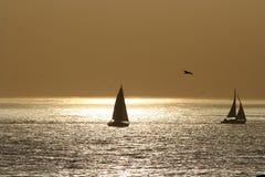 żagiel łodzi Obraz Royalty Free