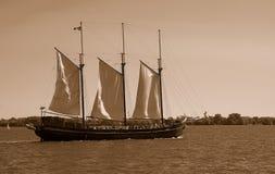 żagiel sepiowy łodzi Fotografia Royalty Free