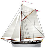 Żaglówka antyczny jacht Zdjęcia Royalty Free
