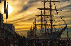 Żaglówka na molu - Rio De Janeiro Brazylia | Rubem Sousa Dla Box® zdjęcia stock