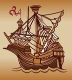 żagla stary statek ilustracji