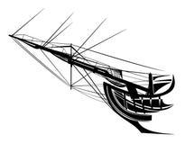 Żagla statku łęku wektorowy projekt Obrazy Royalty Free