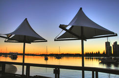 żagli cienia southport Obrazy Royalty Free