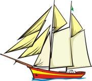 żaglowiec ilustracja wektor