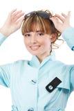 żakiet błękitny dziewczyna Zdjęcia Stock