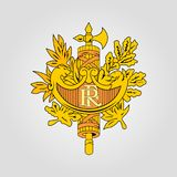 Żakiet ręki Francja royalty ilustracja
