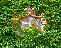 Żakiet ręki właściciele Melnitsky kędziorek w mieście Melnik cesky krumlov republiki czech miasta średniowieczny stary widok Obraz Stock