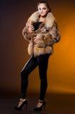 żakieta futerka kobieta Zdjęcie Royalty Free