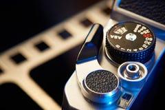 Żaluzi kopienia dźwigni film SLR zdjęcia stock