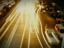 Żaluzi prędkość przy nocy tym Zdjęcia Royalty Free