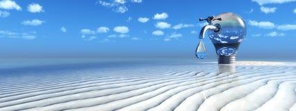 żarówka, klepnięcie i plaża, ilustracji