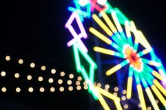 Żarówka koloru bokeh zamazujący światło Obraz Royalty Free