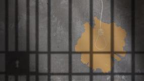 Żarówka Malująca Pod więzienie barami Obrazy Royalty Free
