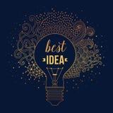Żarówka robić handdrawn doodles, kreatywnie pojęcie Wektorowy pojęcie - twórczość i pomysł literowanie wycena kreatywnie ilustracji